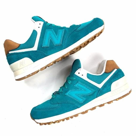 premium selection 38ca4 b9cbc New Balance 574 | NEW Teal Blue Green Sneaker